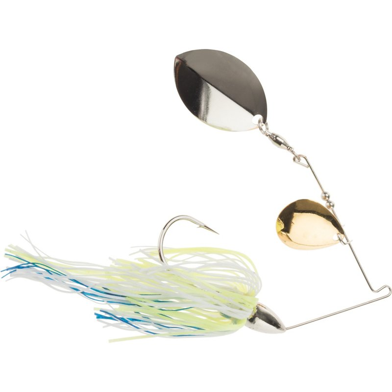 War Eagle Finesse 5/16 oz Spinnerbait White Chartreuse/Blue – Fresh Water Jigs And Spoons at Academy Sports