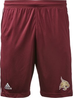 adidas Men's Texas State University 3-Stripes Knit Shorts