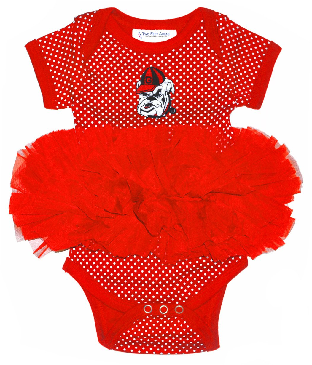 new product 71cbb 259ad Display product reviews for Two Feet Ahead Infants Girls  University of  Georgia Tutu Onesie