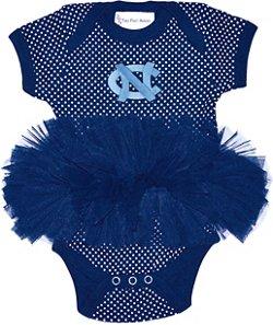 Two Feet Ahead Infant Girls' University of North Carolina Pin Dot Tutu Creeper