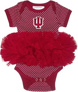 Two Feet Ahead Infant Girls' Indiana University Pin Dot Tutu Creeper