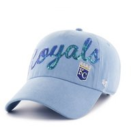 '47 Kansas City Royals Women's Sparkle Script Clean Up Cap