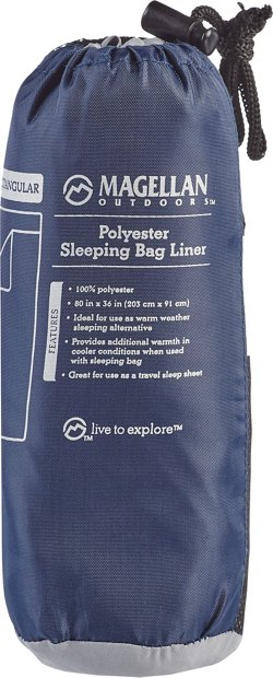Magellan Outdoors Polyester Rectangular Sleeping Bag Liner