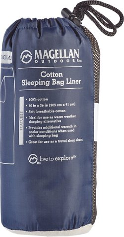 Magellan Outdoors Cotton Rectangular Sleeping Bag Liner