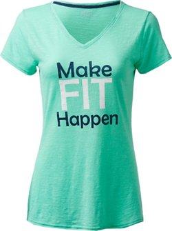 BCG Women's Make Fit Happen Graphic V-neck T-shirt