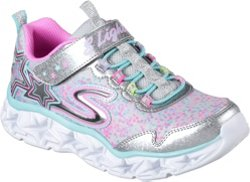 SKECHERS Girls' Galaxy Lights Running Shoes