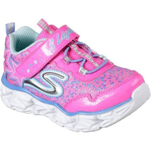 SKECHERS Toddler Girls' S Lights Galaxy Lights Running Shoes