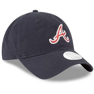 size 40 24e76 bdaa7 New Era Women s Atlanta Braves Glisten Adjustable 9TWENTY Cap