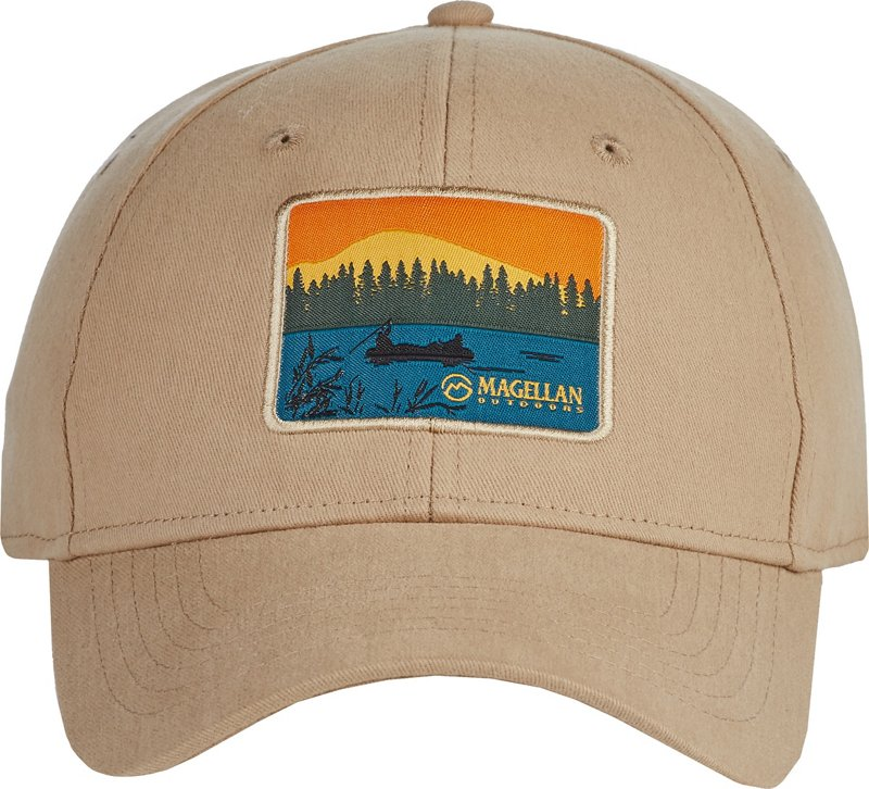 Magellan Outdoors Men's Sunset Cap (Brown/White, Size One Size) – Men's Outdoor Apparel, Men's Hunting/Fishing Headwear at Academy Sports