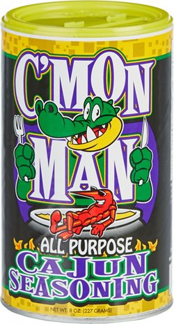 C'Mon Man 8 oz All Purpose Cajun Seasoning
