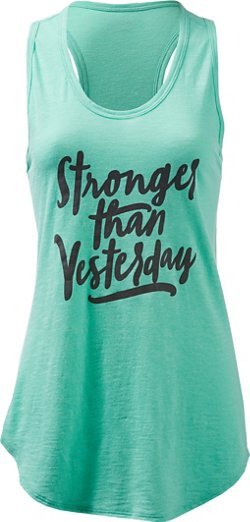 BCG Women's Athletic Stronger Graphic Tank Top