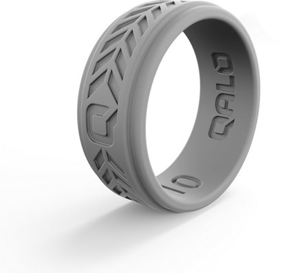 Qalo Men S Step Edge Chevron Silicone Wedding Ring Academy