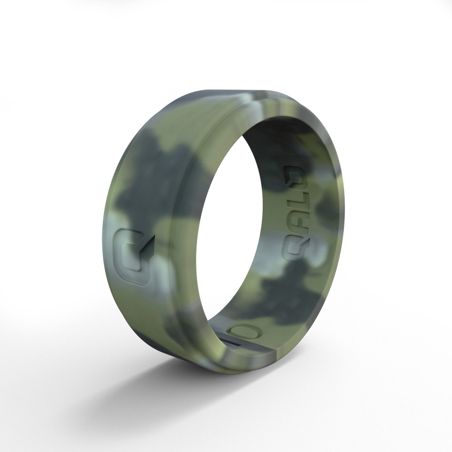 QALO Men's Step Edge Camo Silicone Wedding Ring - view number 2