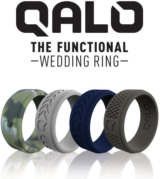 QALO Men's Step Edge Camo Silicone Wedding Ring - view number 1