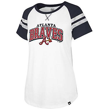 hot sales 8c5a2 0ff71 '47 Women's Atlanta Braves Fly Out Raglan 3/4 Sleeve T-Shirt