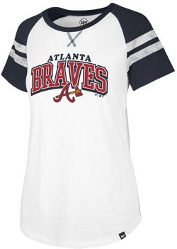 '47 Women's Atlanta  Braves Fly Out Raglan 3/4 Sleeve T-Shirt