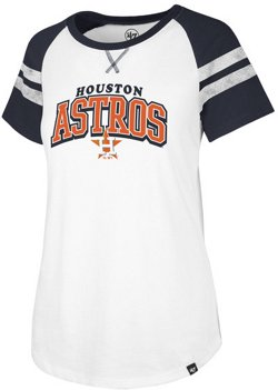 '47 Women's Houston Astros Fly Out Raglan 3/4 Sleeve T-Shirt