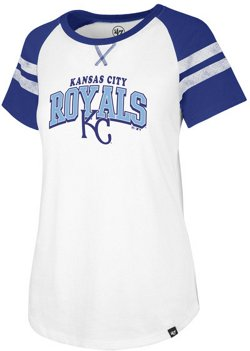 '47 Women's Kansas City Royals Fly Out Raglan 3/4 Sleeve T-Shirt