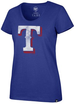'47 Women's Texas Rangers Distressed Imprint Club Short Sleeve T-Shirt