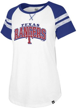 '47 Women's Texas Rangers Fly Out Raglan 3/4 Sleeve T-Shirt