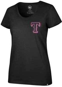 '47 Women's Texas Rangers Neon Circle Club Scoop Short Sleeve T-Shirt