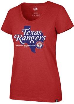 '47 Women's Texas Rangers Baseball Is Bigger Regional Club  Short Sleeve T-Shirt