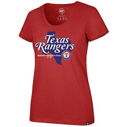 '47 Women's Texas Rangers Baseball Is Bigger Regional Club  Short Sleeve T-Shirt