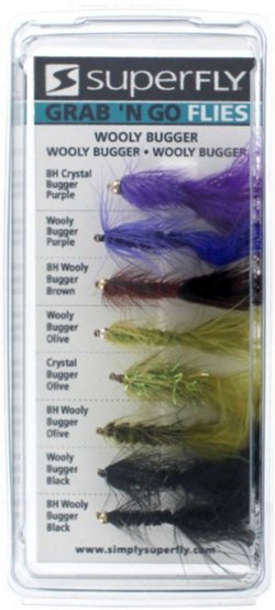 Superfly Grab 'N Go Wooly Bugger 8-Piece Fly Set