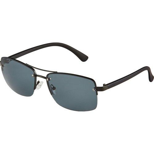 Maverick Rimless Metal Navigator Sunglasses
