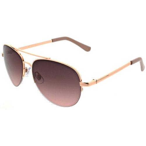 SOL PWR Lifestyle Semi-Rim Metal Aviator Sunglasses