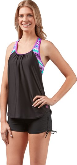 Gerry Women's Inferno Sunray 2For Blouson Tankini Swim Top