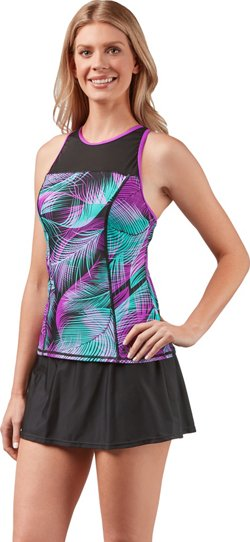 Women's Swim Sporty Tankini Swim Top