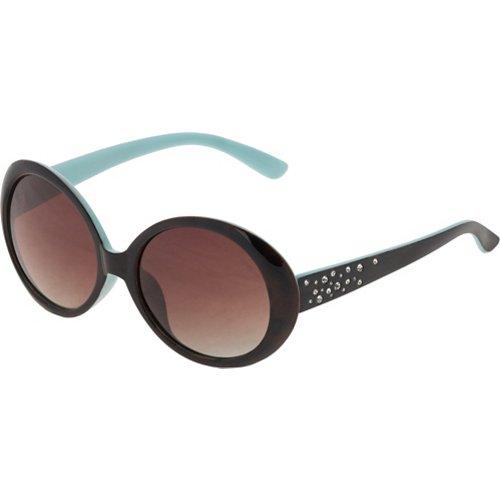 SOL PWR Lifestyle Polarized Rhinestone Oval Sunglasses