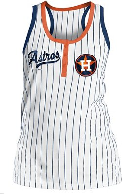 Women's Houston Astros Pinstripe Tank Top