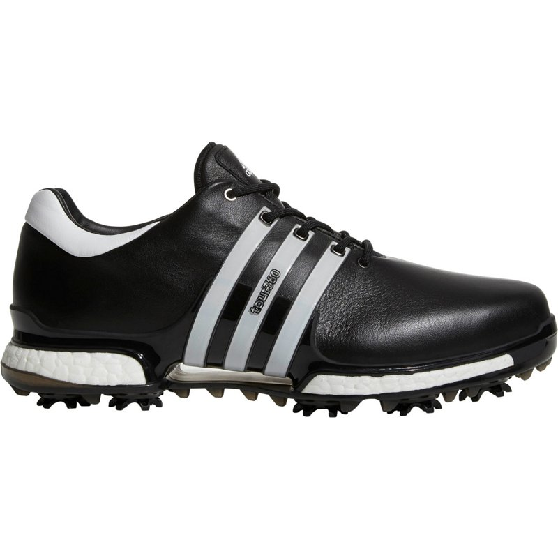 adidas Men's Tour 360 2.0 Golf Shoes Black/Running White, 8.5 - Men's Golf Shoes at Academy Sports