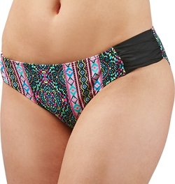 O'Rageous Juniors' Mosaic Hipster Swim Bottoms