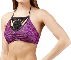 O'Rageous Juniors' Painted Bandana High Neck Halter Swim Top