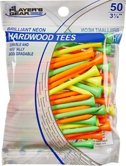 Players Gear 3-1/4 in Neon Hardwood Golf Tees 50-Pack