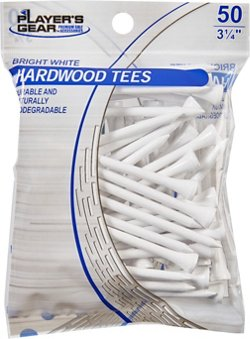 Players Gear 3-1/4 in Hardwood Tees 50-Pack