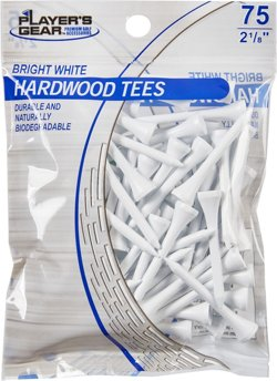 Players Gear 2-1/8 in Hardwood Tees 75-Pack