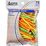Players Gear 2-3/4 in Mixed Fluorescent Hardwood Golf Tees 75-Pack