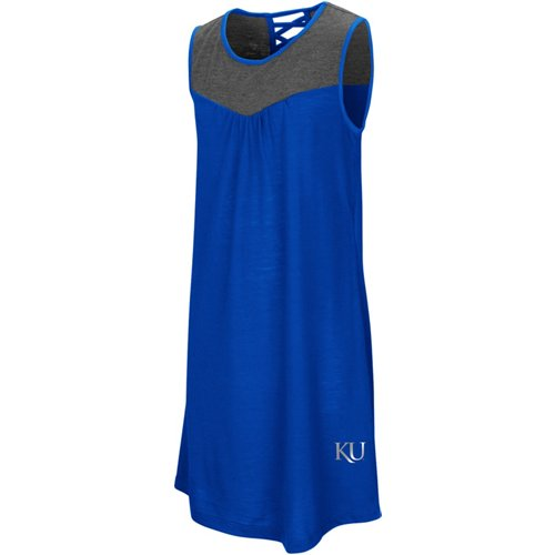 Colosseum Athletics Girls' University of Kansas S'more Strappy Back Tank Dress