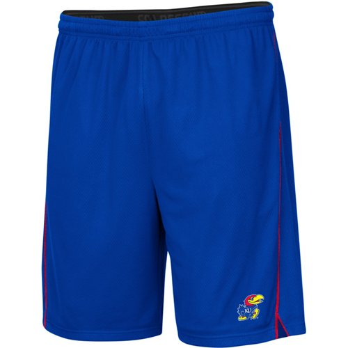 Colosseum Athletics Men's University of Kansas Embroidered Mesh Shorts