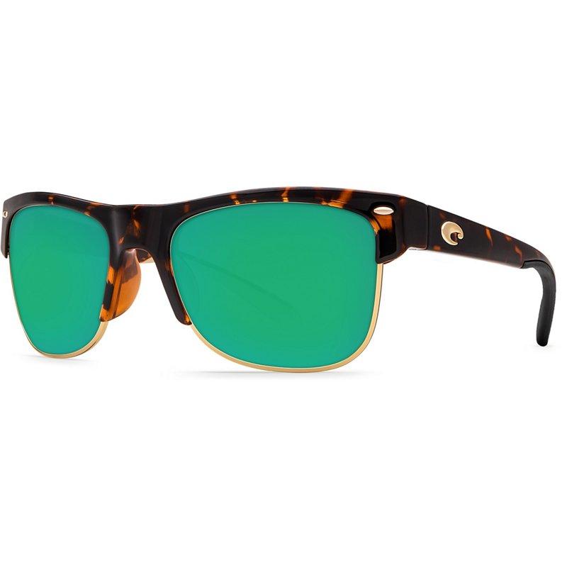 20fc6790743fb Costa Del Mar Pawleys Mirrored Sunglasses Retro Tortoise Green Mirror Glass  - Case Sunglasses at