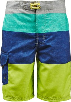 O'Rageous Boys' Stripe Print True Boardshorts