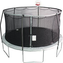 JumpZone 14 ft Round Trampoline with DunkZone Basketball Hoop