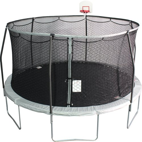 Jump Zone 14 ft Round Trampoline with DunkZone Basketball Hoop