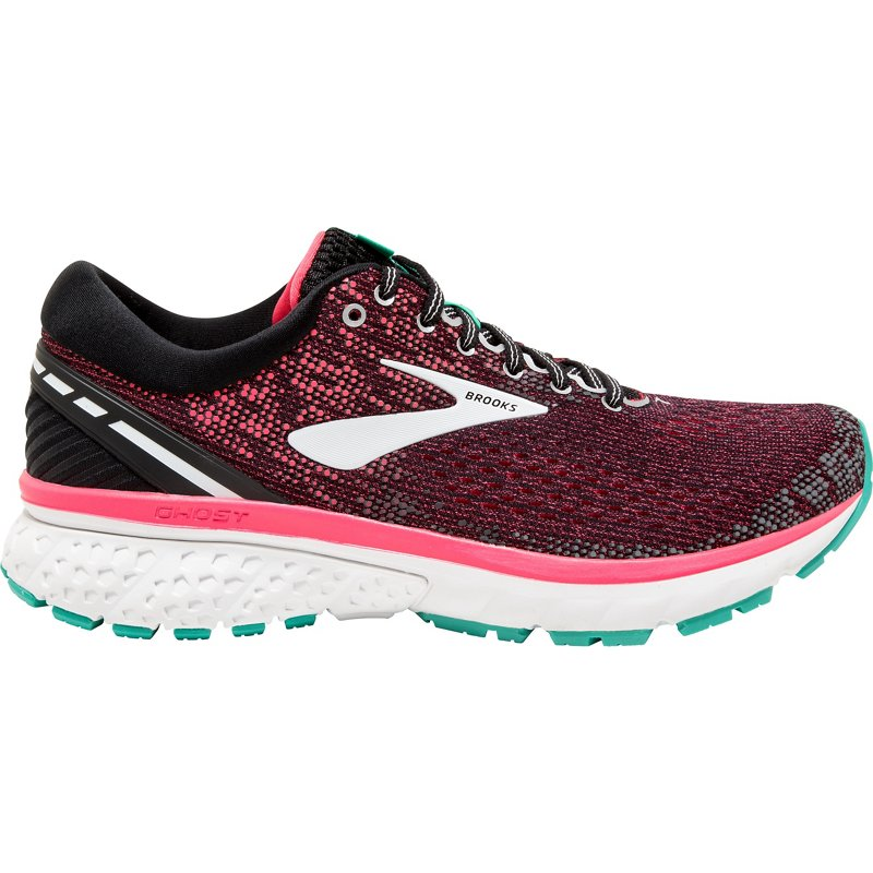614d76979d712 Brooks Women s Ghost 11 Running Shoes Black Bright Pink