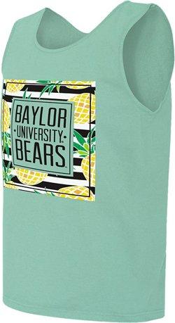 Image One Women's Baylor University Spring Pattern Block Comfort Color Tank Top