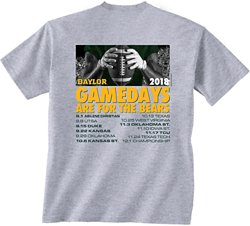 New World Graphics Men's Baylor University Football Schedule T-Shirt